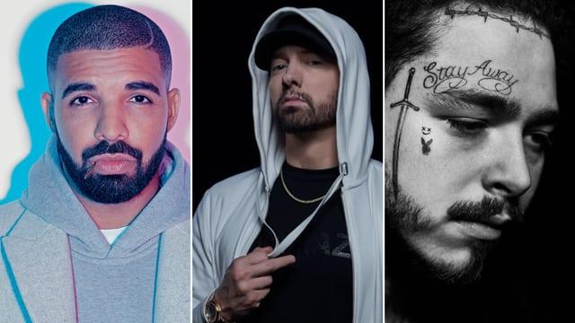 Spotify上嘻哈明星们播放量排名 (客串不算)
