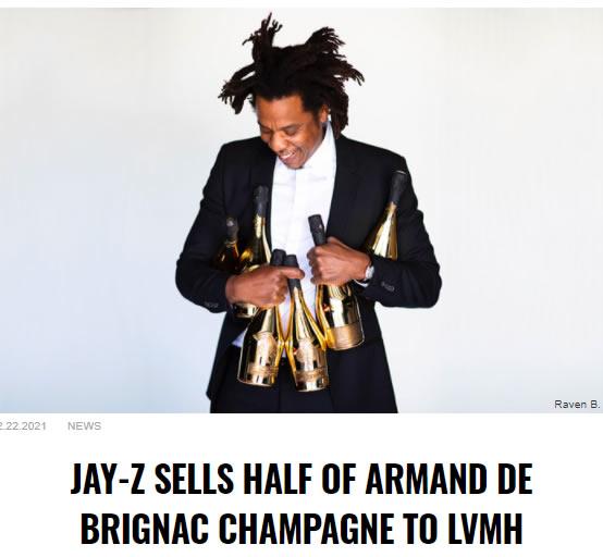 Jay Z的大生意,刚卖掉黑桃A酒一半股份给路易威登母公司