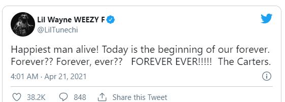 Lil Wayne并没有结婚