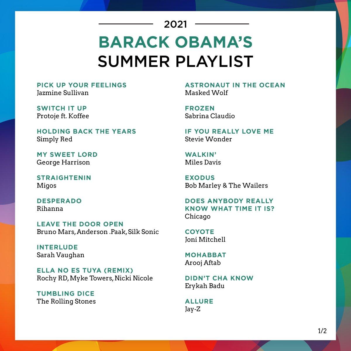 奥巴马分享最新夏日歌单..这些人上榜
