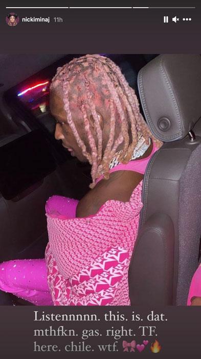 Young Thug粉色脏辫新发型, Nicki Minaj评价