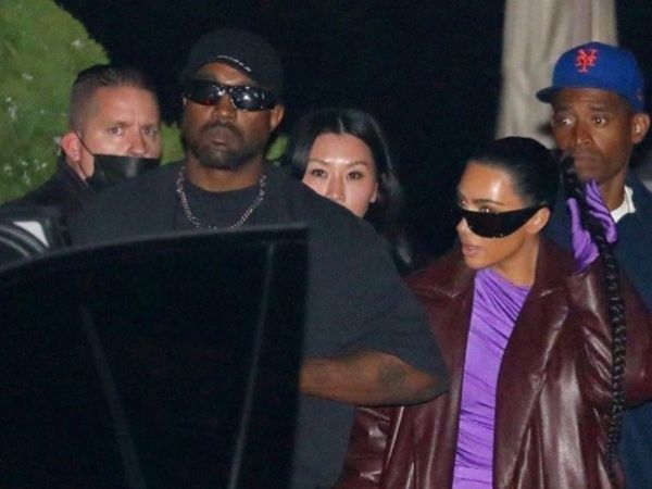 Kanye West和卡戴珊共进晚餐..